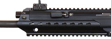 Detalle de la palanca de montaje Heckler & Koch HK433 5,56mm x 45