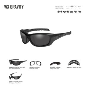 WX GRAVITY. Gafas balísticas Xiley X Tactical/Police.