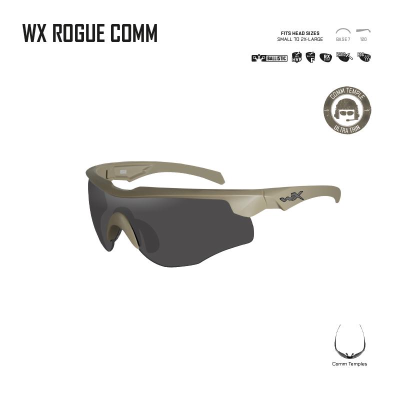 c033492b81 Gafas balísticas de alto rendimiento ROGUE COMM Wiley X