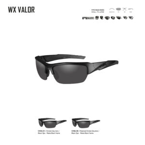 WX VALOR. Gafas balísticas Xiley X Tactical/Police.