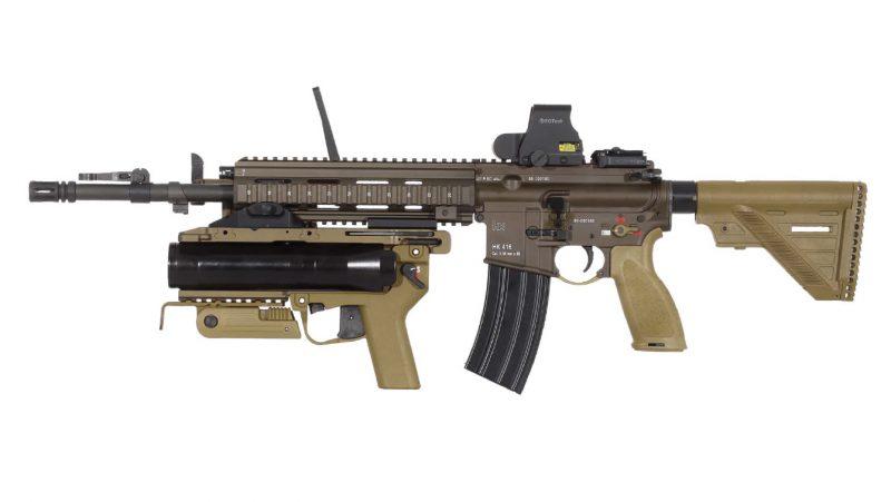 Rifle de asalto Heckler & Koch HK416 con lanzagranadas GLM