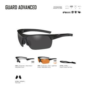 GUARD ADVANCED. Gafas balísticas Xiley X Tactical/Police.