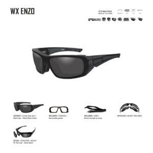 WX ENZO. Gafas balísticas Xiley X Tactical/Police.