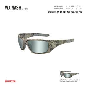 WX NASH. Gafas balísticas Xiley X Tactical/Police.