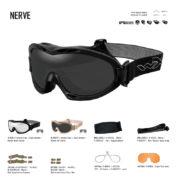 NERVE. Gafas balísticas Xiley X Tactical/Police.