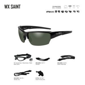 WX SAINT. Gafas balísticas Xiley X Tactical/Police.