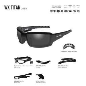 WX TITAN. Gafas balísticas Xiley X Tactical/Police.