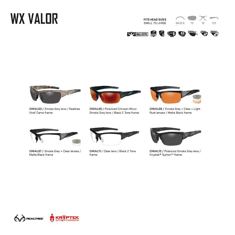 83676ddcf275 Gafas balísticas de alto rendimiento WX VALOR Wiley X