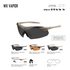 WX VAPOR. Gafas balísticas Xiley X Tactical/Police.