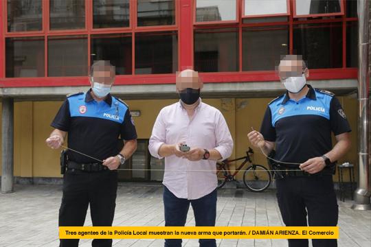 La Policía Local de Gijón plantea implantar Bola Wrap